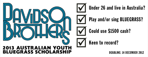 2013 Australian Youth Bluegrass Scholarship
